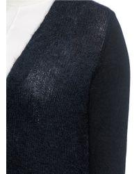 Rag & Bone | Black 'petra' Merino Wool Sleeve Mohair-alpaca Cardigan | Lyst