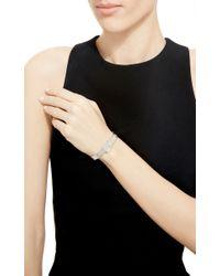 Sidney Garber - Metallic 18K White Gold Skinny Buckle Bracelet - Lyst