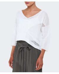 Crea Concept - Multicolor Asymmetric Cropped Sweater - Lyst