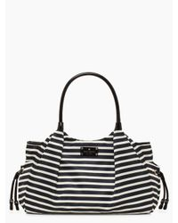 kate spade new york | Black Kate Spade Nylon Stripe Stevie Baby Bag | Lyst