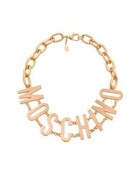 Moschino | Metallic Lettering Necklace | Lyst
