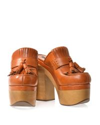 Rochas | Brown Tasselfront Clogs | Lyst