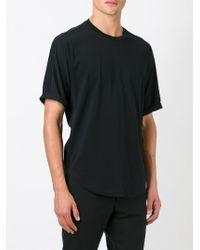 JOSEPH - Black Curved Hem T-shirt for Men - Lyst