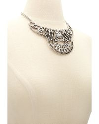 Forever 21 - Metallic Faux Gemstone Statement Necklace You've Been Added To The Waitlist - Lyst