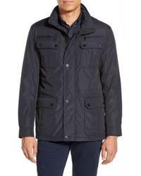 Michael Kors | Blue 'elgin' Hidden Hood Field Jacket for Men | Lyst