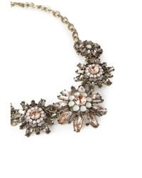 Forever 21 - Purple Bejeweled Floral Necklace - Lyst