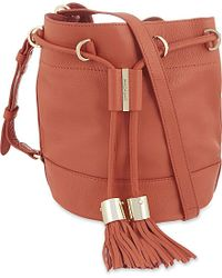 See By Chloé - Orange Vicki Leather Bucket Bag - Lyst