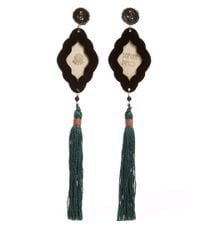 Anna E Alex | Multicolor Panther Safari Deco Wooden Earring | Lyst