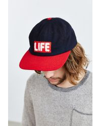 Altru - Black Life Wool Strapback Hat for Men - Lyst