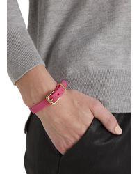 Marc By Marc Jacobs - Rubber Bandz Pink Bracelet - Lyst