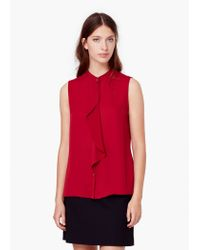 Mango | Red Decorative Ruffle Blouse | Lyst