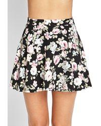 Forever 21 | Black Floral Print A-line Skirt | Lyst