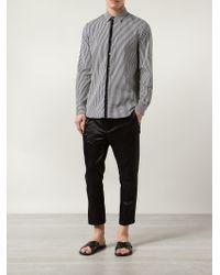 Ann Demeulemeester | Black Cropped Sheen Trousers for Men | Lyst