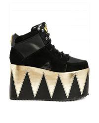 YRU - Black Qozmopolitan Platform Lace Up Boots - Lyst