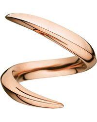 Shaun Leane - Metallic Aerial 18ct Rose-gold Crossover Ring - Lyst