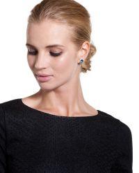 Ted Baker | Green Crystal Stud Earrings | Lyst