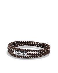 David Yurman | Brown Chevron Triple-wrap Bracelet for Men | Lyst