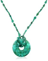 Lord & Taylor | Blue Turquoise And Sterling Silver Ring Pendant Necklace | Lyst