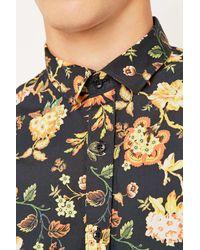 SELECTED - Black Ban Shirt for Men - Lyst