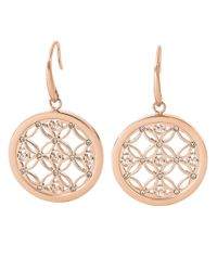 Michael Kors | Pink Rose Goldtone And Glitz Small Drop Earrings | Lyst