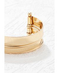 Forever 21 - Metallic Cutout Stacked Cuff - Lyst