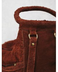 Free People | Brown Cut N Paste Womens Royale Distressed Backpack | Lyst
