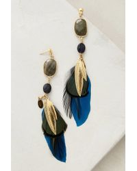 Gas Bijoux - Blue Feathered Sunstone Drops - Lyst