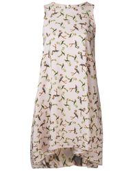 Piamita | Purple Iris Print Dress | Lyst