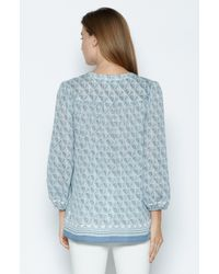 Joie | Blue Jesslyn Silk Blouse | Lyst