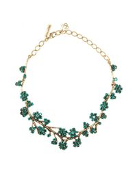 Oscar de la Renta - Blue Embellished Necklace - Lyst