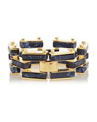 Lele Sadoughi | Blue Garden Fence Gold-Plated, Marble And Howlite Bracelet | Lyst
