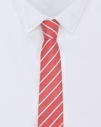 Ted Baker - Red Stripe Tie for Men - Lyst