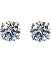 Carat* | White Round 1.5ct Solitaire Stud Earrings | Lyst