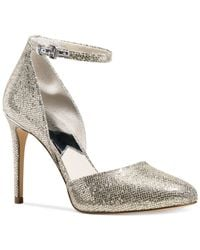 Michael Kors | Metallic Michael Georgia Ankle Strap Two-piece Pumps | Lyst