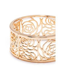 Forever 21 | Metallic Filigree Floral Cutout Bracelet | Lyst