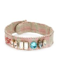 Dosa - Gray 'watts Towers' Embellished Bracelet - Lyst