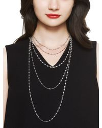 kate spade new york | Metallic Sweet Nothings Multi Strand Necklace | Lyst