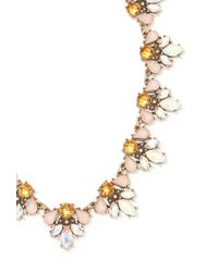 Forever 21 - Pink Iridescent Faux Stone Statement Necklace - Lyst