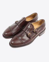 Billy Reid - Brown Piped Monk Shoe for Men - Lyst