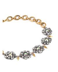 Lulu Frost - Metallic 'Lana' Crystal Flower Chain Necklace - Lyst