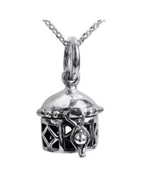 Aeravida | Gray See-thru Geometric Prayer Box Locket Sterling Silver Necklace | Lyst