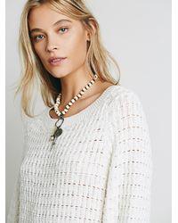 Free People | White Sunshine Sweaterdress | Lyst