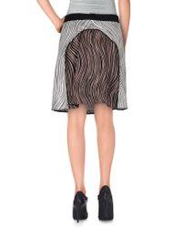 3.1 Phillip Lim - Black Knee Length Skirt - Lyst