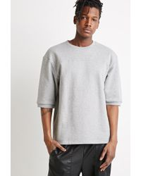 Forever 21 - Gray French Terry Sweatshirt for Men - Lyst