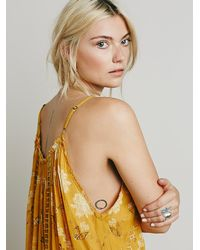 Free People - Yellow Fp One Womens Fp One Ruffle Bottom Mini Dress - Lyst