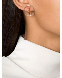 Charlotte Chesnais - Metallic Small 'saturne' Earrings - Lyst