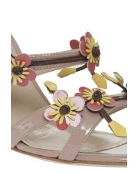 Paul Andrew - Natural Flora Heel Sandals - Lyst