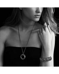 David Yurman - Black & Gold Crossover Pendant Necklace - Lyst