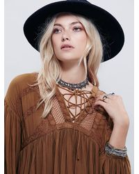 Free People - Brown Womens Dont Let Go Peasant Blouse - Lyst