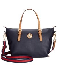 Tommy Hilfiger - Blue Th Shopper Pebble Small Convertible Tote - Lyst